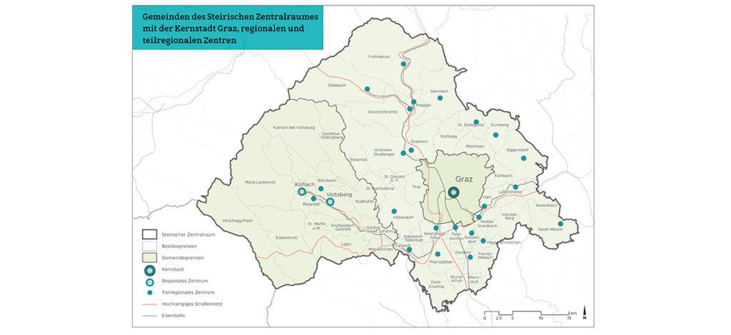 Steirischer Zentralraum Karten und Infografiken